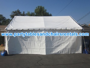 20x20 white tent with walls for rent
