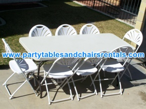 White rectangular folding tables for rent los angeles ca
