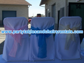 White folding chairs covers for sale