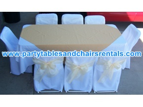 Fodling tables and chairs covers for events fiestas