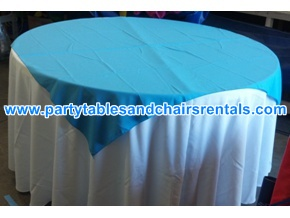 Light blue round folding table cover for sale