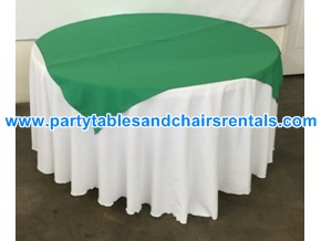 Green round folding table cover for sale