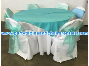 Light green round folding table cover for sale