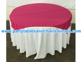 Red round folding table cover for sale